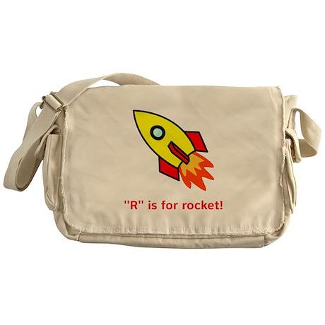 R is for Rocket Messenger Bag