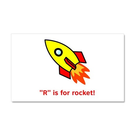 R is for Rocket Car Magnet 20 x 12