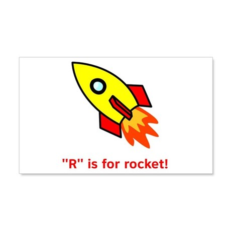 R is for Rocket 22x14 Wall Peel