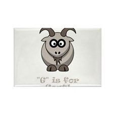 G is for Goat! Rectangle Magnet (10 pack)