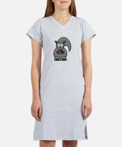Cartoon Squirrel Women's Nightshirt