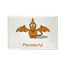 Cartoon Pterodactyl Rectangle Magnet (100 pack)