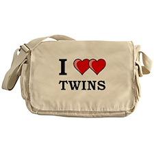 I Heart Twins Messenger Bag
