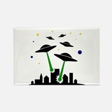 UFO Attack Rectangle Magnet (10 pack)