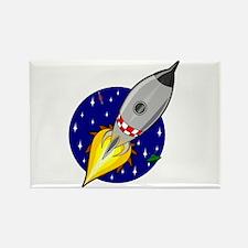 Spaceship Rocket Rectangle Magnet (10 pack)