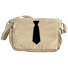 Black Neck Tie Messenger Bag