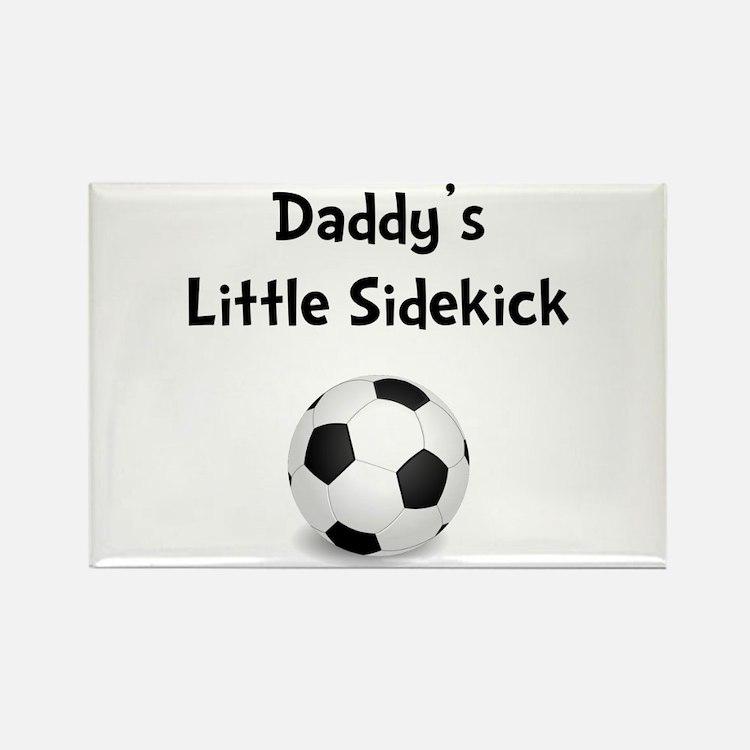 Daddy's Sidekick Soccer Rectangle Magnet (10 pack)