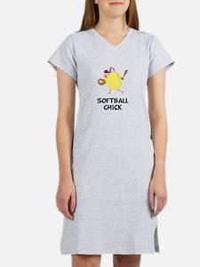 Softball Chick Women's Nightshirt