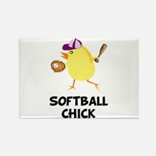 Softball Chick Rectangle Magnet (10 pack)