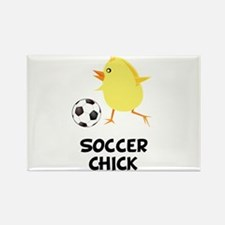Soccer Chick Rectangle Magnet (10 pack)