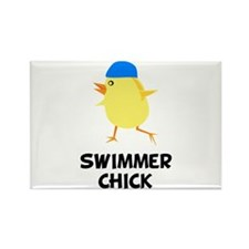Swimmer Chick Rectangle Magnet (10 pack)