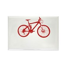 Red Mountain Bike Rectangle Magnet (10 pack)