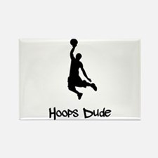 Hoops Dude Rectangle Magnet (10 pack)