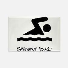 Swimmer Dude Rectangle Magnet (10 pack)