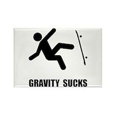 Skateboard Gravity Rectangle Magnet (10 pack)