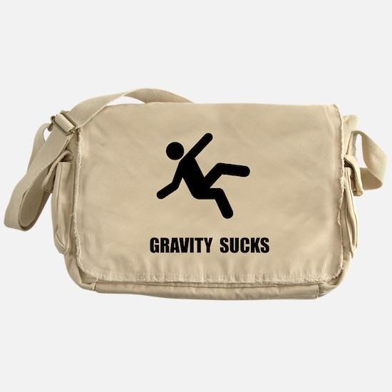 Gravity Sucks Messenger Bag