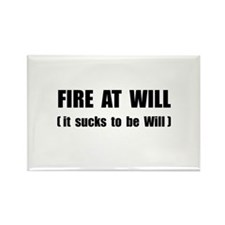 Fire At Will Rectangle Magnet (100 pack)