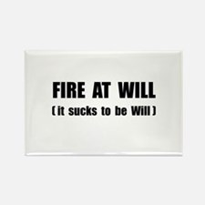 Fire At Will Rectangle Magnet (10 pack)