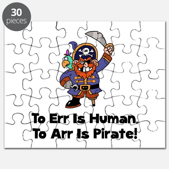 To Arr Is Pirate Cartoon Puzzle
