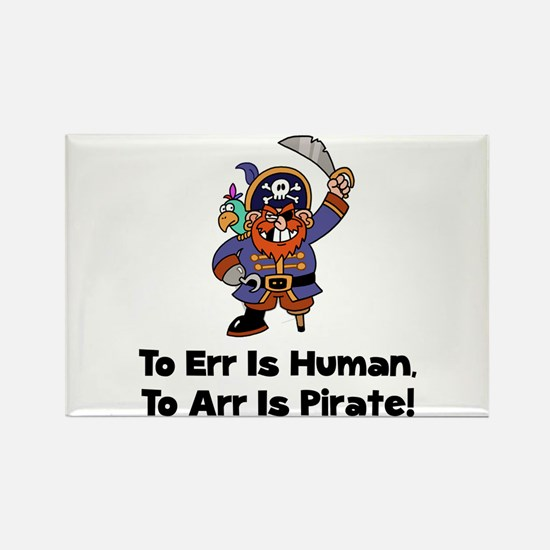 To Arr Is Pirate Cartoon Rectangle Magnet (10 pack