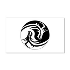 Dragon Ying Yang Car Magnet 20 x 12