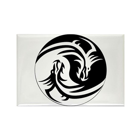Dragon Ying Yang Rectangle Magnet (100 pack)
