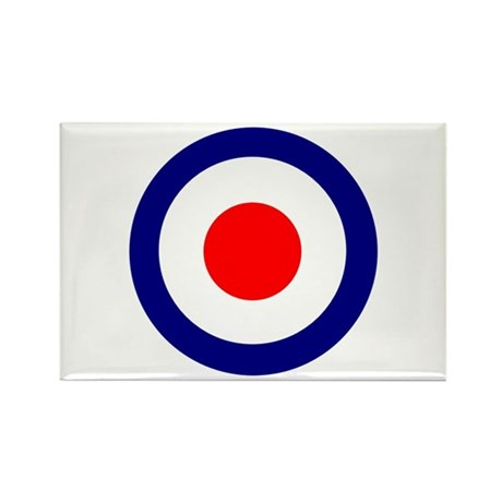Mod Roundel Rectangle Magnet (10 pack)