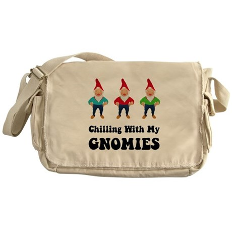 Chilling With My Gnomies Messenger Bag