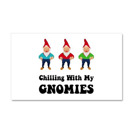 Chilling With My Gnomies Car Magnet 20 x 12