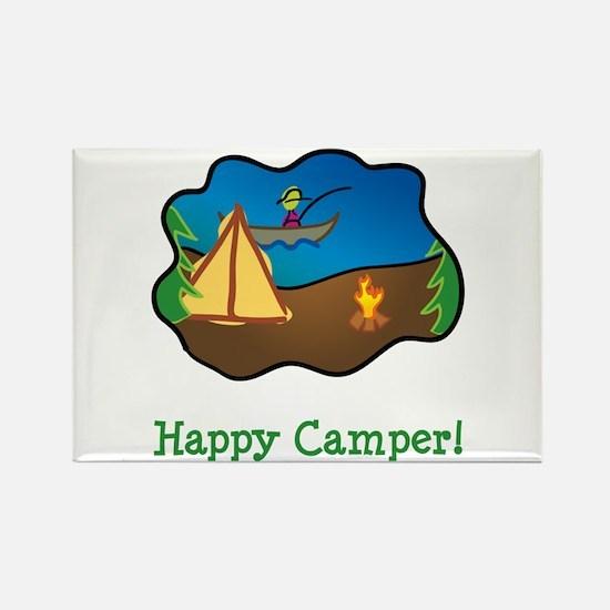 Happy Camper! Rectangle Magnet (10 pack)