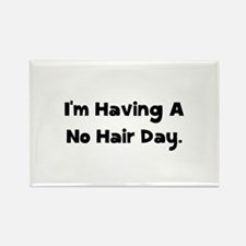 No Hair Day Rectangle Magnet (10 pack)