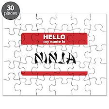 Hello My Name Is Ninja Puzzle