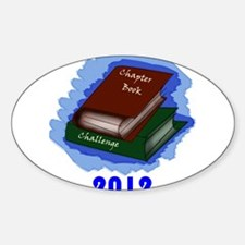 Chapter Book Challenge 2012 Sticker (Oval)