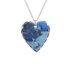 Cinderella Watercolor Necklace