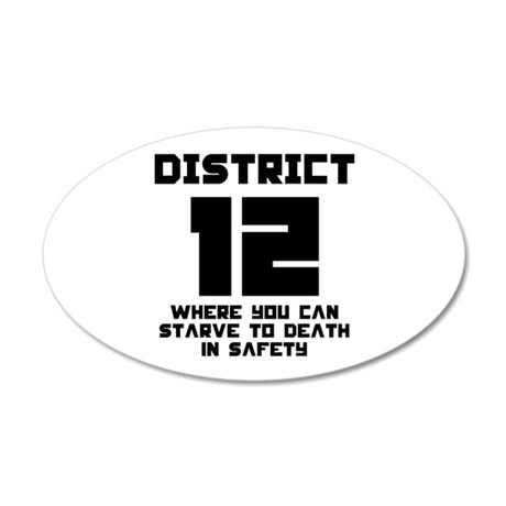 Hunger Games District 12 Starving 22x14 Oval Wall
