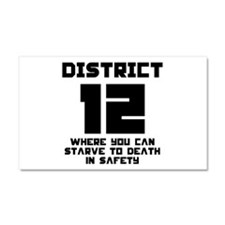 Hunger Games District 12 Starving Car Magnet 20 x