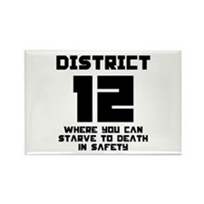 Hunger Games District 12 Starving Rectangle Magnet