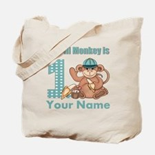 First Birthday Monkey Tote Bag