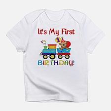 First Birthday Bear Train Infant T-Shirt