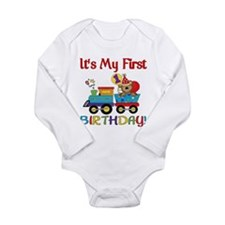 First Birthday Bear Train Baby Outfits
