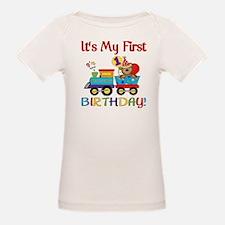 First Birthday Bear Train Tee