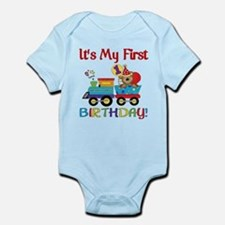 First Birthday Bear Train Onesie