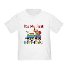 First Birthday Bear Train T