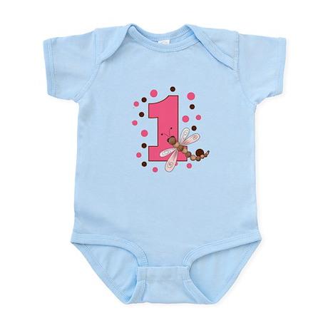 First Birthday Dragonfly Infant Bodysuit