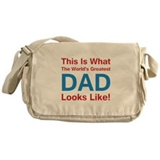 Greatest Dad Messenger Bag