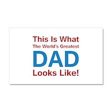 Greatest Dad Car Magnet 20 x 12