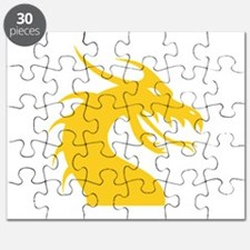 Yellow Dragon Head Puzzle