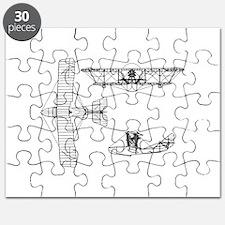 Airplane Blueprint Puzzle