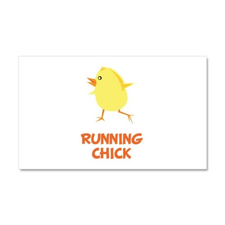 Running Chick Car Magnet 20 x 12