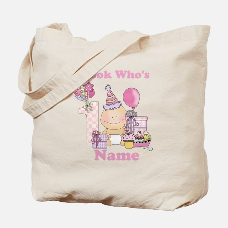 First Birthday Baby Girl Tote Bag